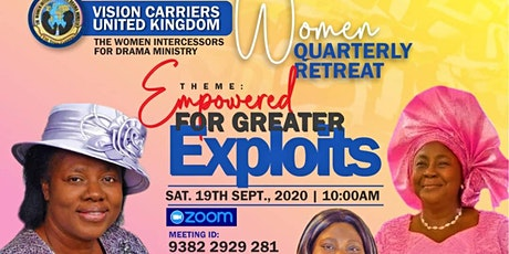 VISION CARRIERS UK WOMEN QUARTERLY RETREAT SEPTEMBER19, 2020 tickets