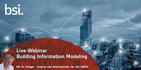 Live-Webinar BIM - ISO 19650 - Das Grundverständnis der Norm tickets