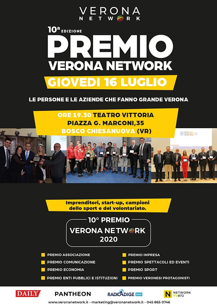 Immagine PREMIO VERONA NETWORK - 10ª EDIZIONE