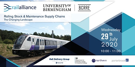 Rolling Stock & Maintenance Supply Chains – the Changing Landscape tickets