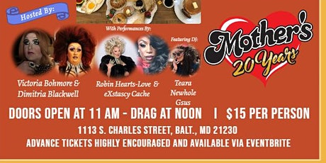 9.12.2020 - Drag Brunch at Mother's in Federal Hill tickets