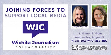 August 2020 WPC Virtual Meeting - Wichita  Journalism Collaborative tickets