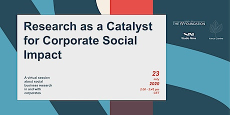Research as a Catalyst for Corporate Social Impact tickets
