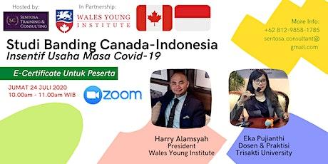 Webinar Studi Banding Canada & Indonesia Insentif Usaha Masa Pandemi tickets