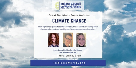 ZOOM Great Decisions - Climate Change tickets