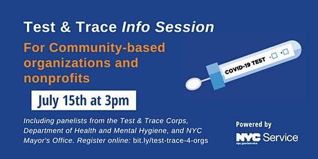 Test & Trace Info Session for Community-based Organizations tickets