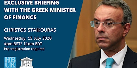 Exclusive Briefing with the Greek Minister of Finance tickets