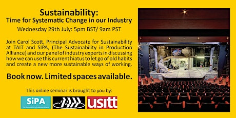 ABTT Seminar: Sustainability-Time for Systematic Change tickets