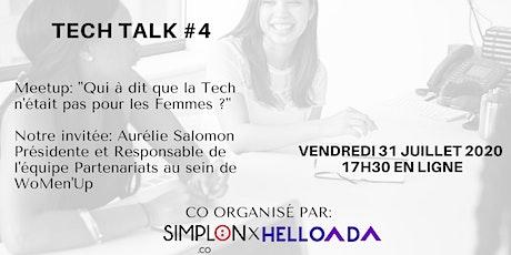 TECH TALK #4 Meetup: Les Femmes dans la Tech billets