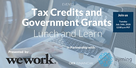 Government Funding and Non-Dilutive Financing Lunch and Learn Tickets