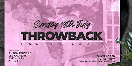 Throwback  Garden Party tickets