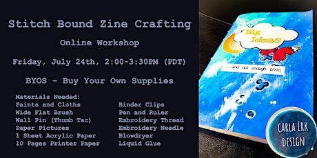 Stitch Bound Zine Crafting Online Workshop. tickets