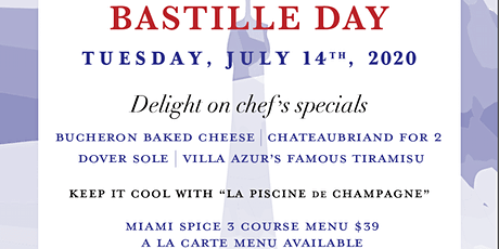 All things French - Bastile day tickets