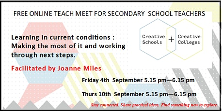 TEACH MEET: Secondary teaching in this time. What are we learning ? tickets