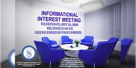Phi Beta Sigma Fraternity, Inc.-Omicron Sigma Alumni Chapter Informational tickets
