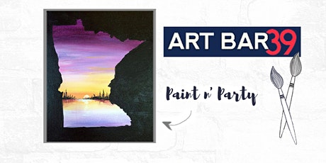 Paint & Sip | ART BAR 39 | Public Event | MN State Purple Landscape tickets