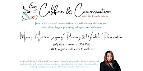 Coffee and Conversation with Dr. Pamela Frison tickets