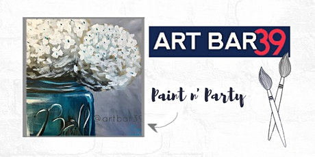 Paint & Sip | ART BAR 39 | Public Event | Teal Hydrangea tickets