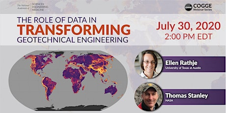 The Role of Data in Transforming Geotechnical Engineering: COGGE Series tickets