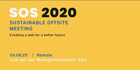 SOS - Sustainable Offsite Meeting Tickets