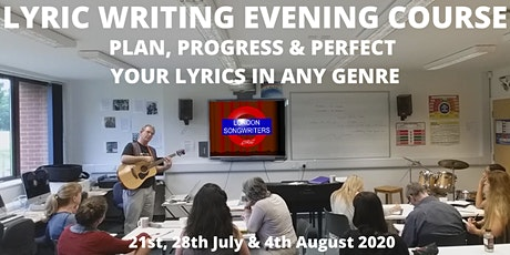 Lyric Writing: The Essential Guide! – 3 Week Evening Course tickets