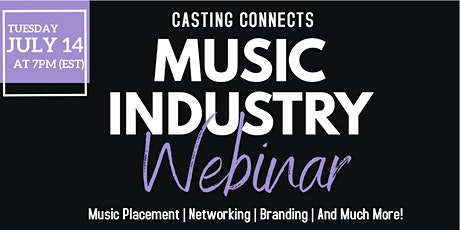 Casting Connects Music Industry Webinar tickets