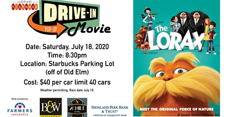 CELEBRATE HIGHWOOD HOSTS DRIVE-IN VIEWING OF THE LORAX JULY 18, 2020 tickets