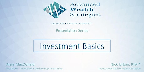 AWS Presentation Series: Investment Basics tickets