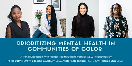 Prioritizing Mental Health in Communities of Color tickets