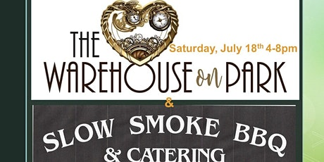 The Warehouse on Park outdoor bar with Slow Smoked BBQ tickets