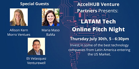AccelHUB Venture Partners - LATAM Online Pitch Night tickets