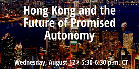 Hong Kong and the Future of Promised Autonomy tickets