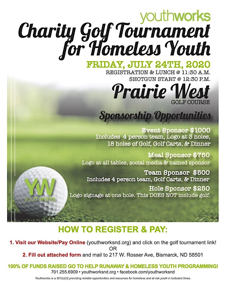 Youthworks Charity Golf Tournament for Homeless & Runaway Youth image