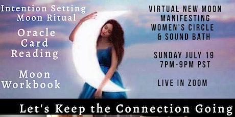 Virtual New Moon  Manifesting Women's  Circle  & Sound Bath tickets