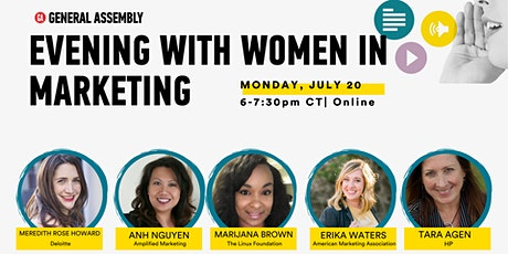 [ONLINE] EVENING WITH WOMEN IN MARKETING   JULY 20 tickets