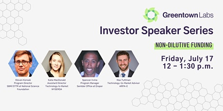 Investor Speaker Series: Non-Dilutive Funding tickets