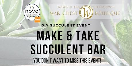 DIY Succulent Bar with WAR International tickets