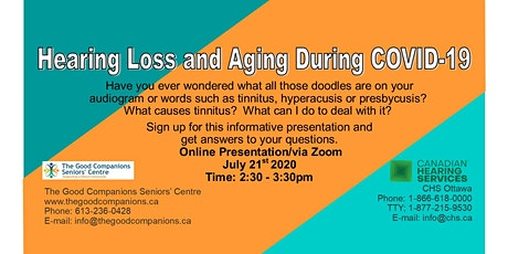 Hearing Loss and Aging During Covid-19 tickets