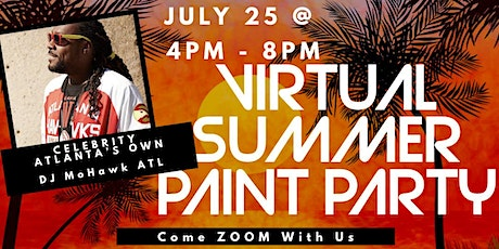 Virtual Summer Paint and Sip Party tickets