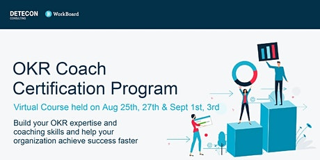 Virtual OKR Coach Certification for US & Europe in August & Sept tickets