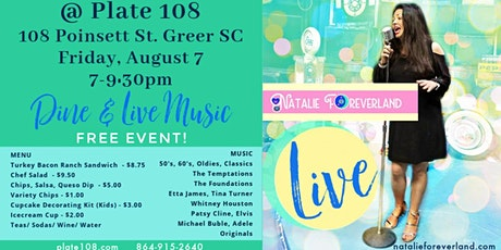 Dine and Live Music with Natalie Foreverland tickets