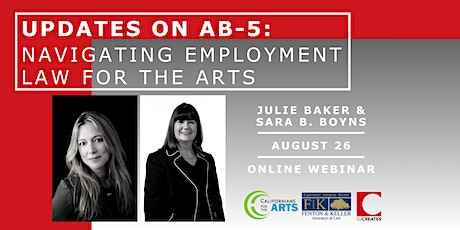 Updates on AB-5: Navigating Employment Law for the Arts tickets