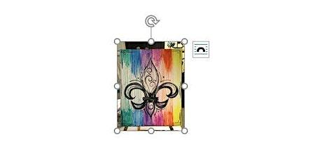 Dripping Fleur De Lis | Adult Paint 'n Sip|  $25-$30 tickets