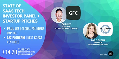 State of SaaS Tech Investor Panel + Startup Pitches (On Zoom) tickets