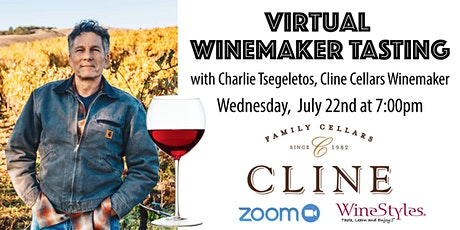 Virtual Wine Tasting with Winemaker Cline Cellars on Zoom tickets
