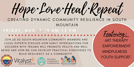 HOPE, LOVE, HEAL, REPEAT: Creating Dynamic Community Resilience tickets