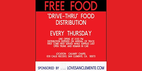 DRIVE THRU FOOD DISTRIBUTION tickets