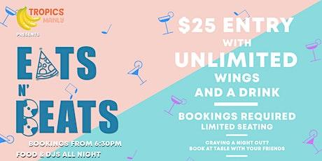 Tropics presents Tropikana Tuesday's: Eats n Beats 6:30 - 11:30pm tickets
