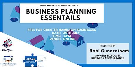 Business Planning Essentials tickets