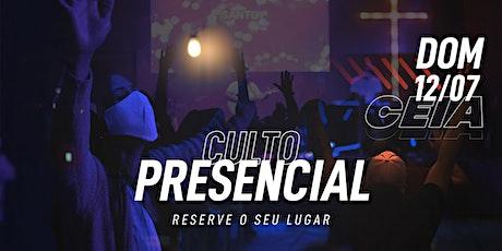 Culto Domingo 12/07/2020 - 19h30 (Ceia) ingressos